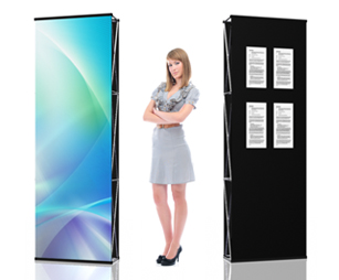 Double-Sided Graphic and Fabric Panels